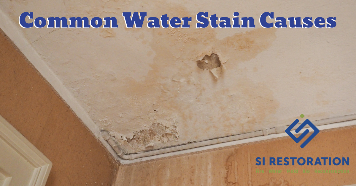 Common Causes Of Water Stains On